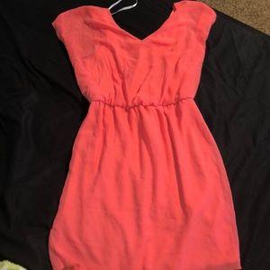 Sweet Storm Dresses - Pink/Coral Dress
